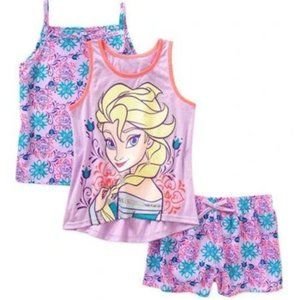 Disney Frozen Girls' Tank, Cami, and Short 3 Piece